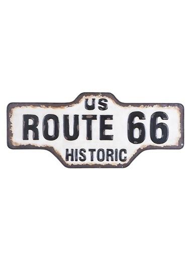 "Warm Design ""Route 66"" Motifli Duvar Dekoru Beyaz"